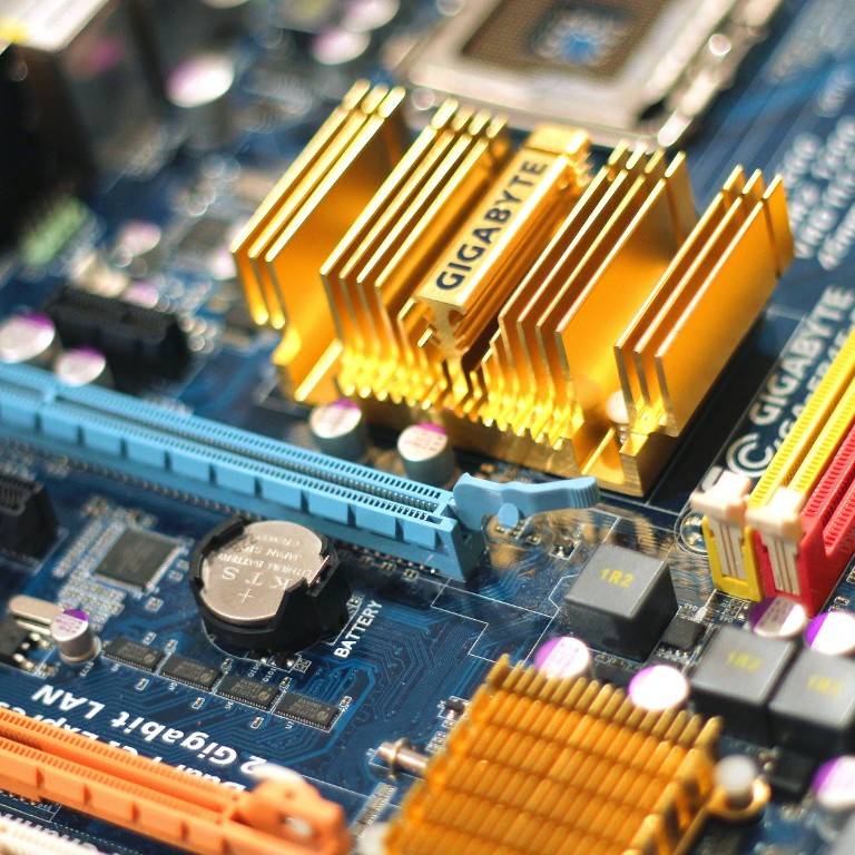 chips and circuit board.