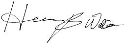 Herman B Wells signature